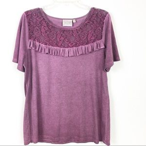 Danielle Dyed Top with Lace